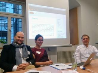 Das Sprecherteam Oliver W. Lembcke, Verena Frick und Roland Lhotta (v. l.) in Erfurt